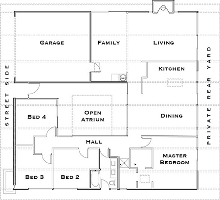 floor plan John Klopf: Respectfully Renovating Eichler Homes