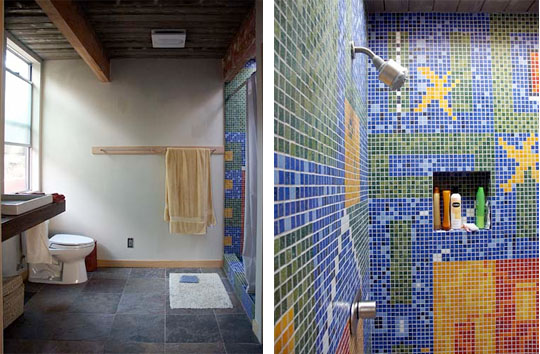 wide bath tiled John Klopf: Respectfully Renovating Eichler Homes