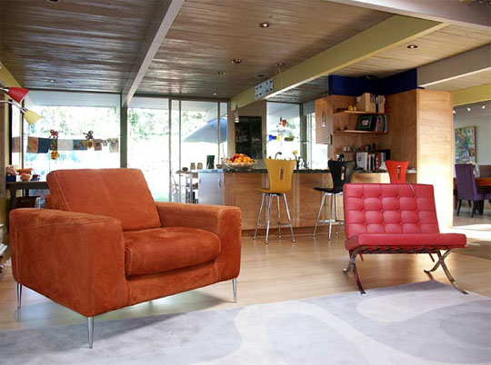 widening greatroom John Klopf: Respectfully Renovating Eichler Homes